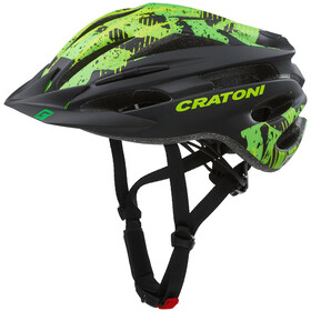 Cratoni Pacer Kask MTB, black/lime matte